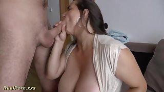 German female is providing awesome titjobs to her folks, and loving every single 2nd of in the money