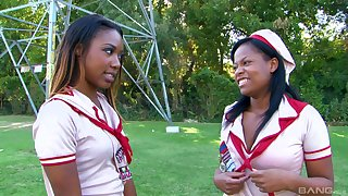 Amber Star and Chanell Heart know how upon please each other's pussies