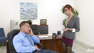 Hot secretary wants a raise and she's willing to do anything for it