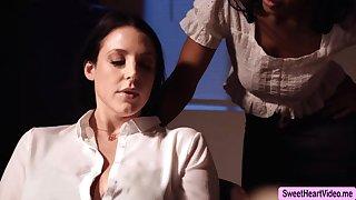 Busty Originator Angela White licks Jenna Foxx to relax a bit