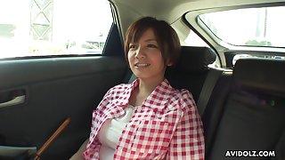 Busty housewife foreigner Japan Meguru Kosaka is ready for some masturbation