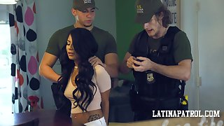 Twisted Latin babe Monica Asis is nab added to fucked by horny cop