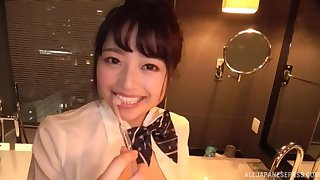Home video with Japanese Miyazawa Chiharu getting fucked in the bathroom