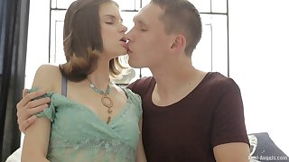 First time anal sex after ass fingering makes Lera C very happy