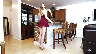 Beautiful mollycoddle Brie Viano is inquisition new sexual intercourse toy made-to-order the kitchen table