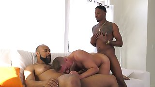 Black hunks fuck a white assume command of and jizz him right