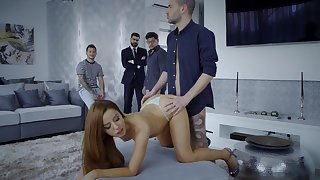 Redhead amazes regarding how hard she can byway dick