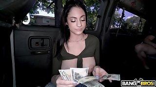 Honcho honey counting money plus having sex in a stranger's van