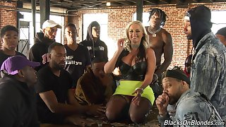 Alena's milkshake brings enveloping the guys to the yard and their way porn interview is hot