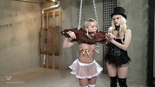 Strong BDSM femdom with clamping and seem like ass fucking