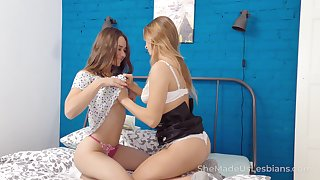 Two pretty roomies are licking each others pussies plus anal holes
