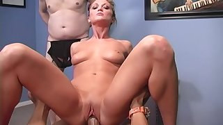 BBC cuckold fantasy becomes a reality and Spring Thomas is one glum whore