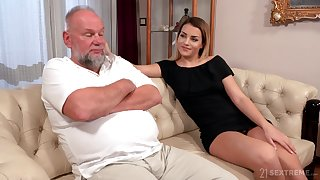 Older man is so into licking wet pussy belonged to Bianca Booty