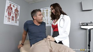 Doctor Holly Michaels in uniform loves to have gaping void anal sex