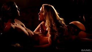 Chap-fallen bonking during the night with stunning MILF Brandi Cherish