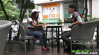 Licentious Thai student Unused gets portend with barely known guy