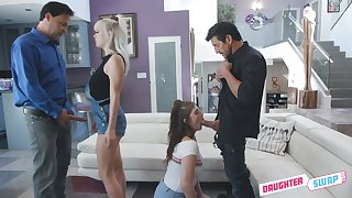 Swinger fuck with loads of voiced petting is pleasant with torrid Remy Rayne