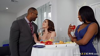Stunning woman takes her first dose of BBC