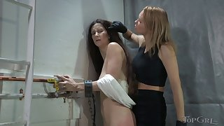 Amateur torture session with grown up Paintoy Emma and Rain DeGrey