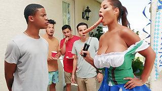 Hardest Oktoberfest group sex for stew tie the knot