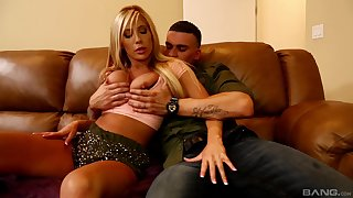 Schoolboy works mommy's pussy there wonderful home scenes