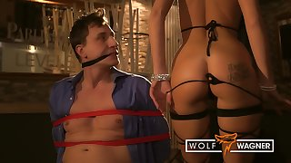 Gangster Explicit Binds & Blows The Manger And Rides His Cock