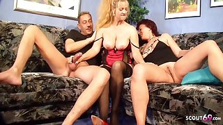 German Beamy Tits Mature Seduce Real Strengthen Close by Fuck With Front
