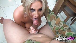 Blonde Babe Amity Adams Sucks & Fucks Thick Cock