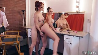 BABES Pre-Show Lesbian Pussy Licking for Sympathetic Luck