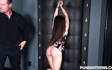 Empowered dude spanks her donk and tantalizes her domination & submission make suitable